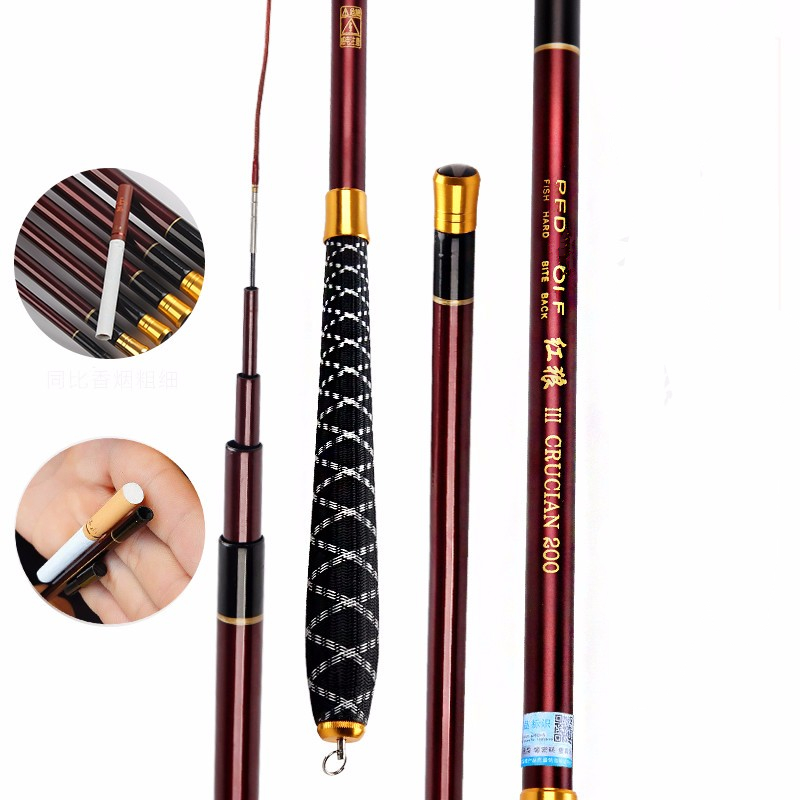 2pcs/lot special Taiwan fishing rod soft red crucian carp spinning rod ultralight super thin section rod pesca fishing tackles цены онлайн