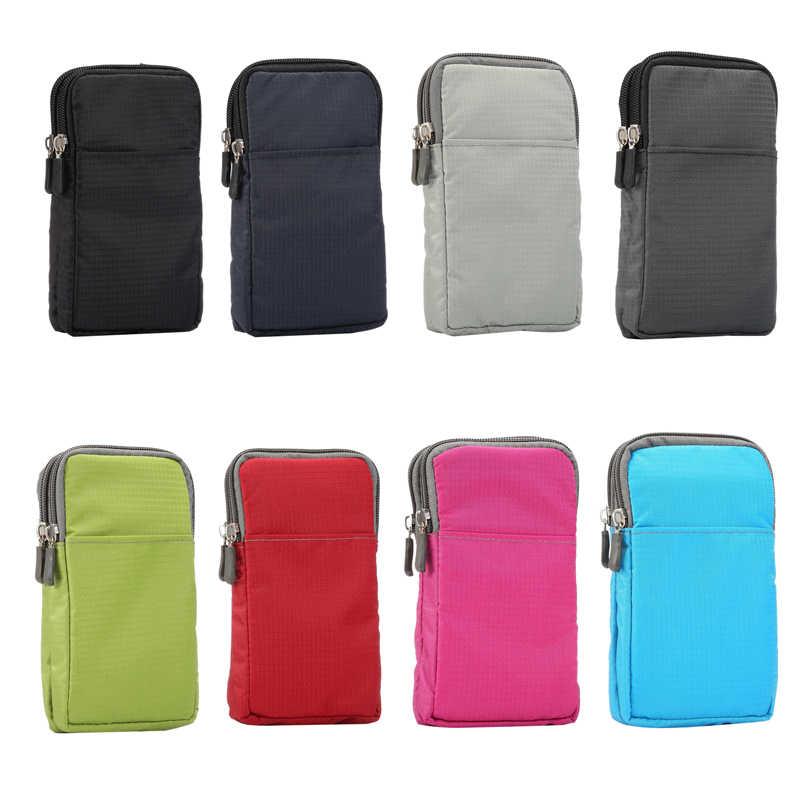 Универсальный для всех ниже 6,3-6,9 дюймов, чехол для мобильных телефонов, 3 кармана, 2 молнии, кошелек, чехол, зажим для ремня, сумка для смартфонов
