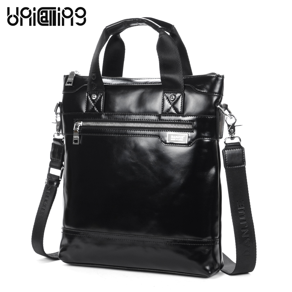Brand men leather bag hot sale trendy vertical messenger handbag casual business bag oil wax glossy genuine cow leather men bag hot sale genuine horse leather top pu leather casual vintage men envelop clutch bag handbag fashion brief messenger shoudler bag