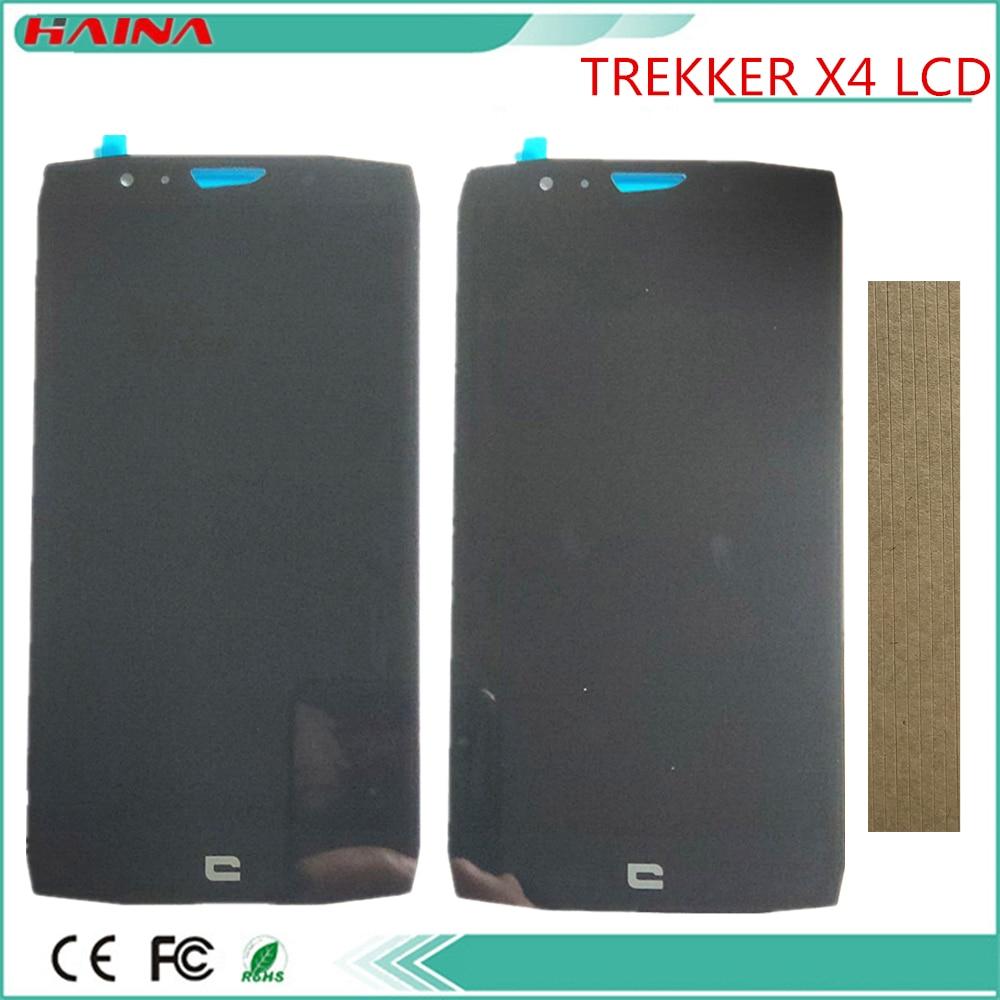 1 Pc/Lot Original pour Crosscall Trekker X4 écran d'affichage LCD et écran tactile assemblage pièce de rechange couleur noire avec bande