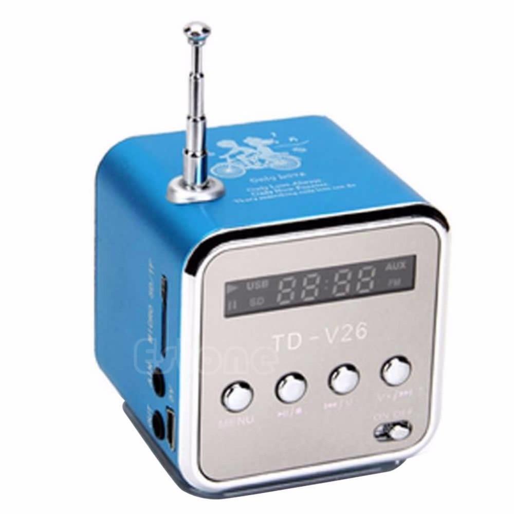 1Set Micro SD TF Mini USB Speaker Music Player Portable FM Radio Stereo PC MP3