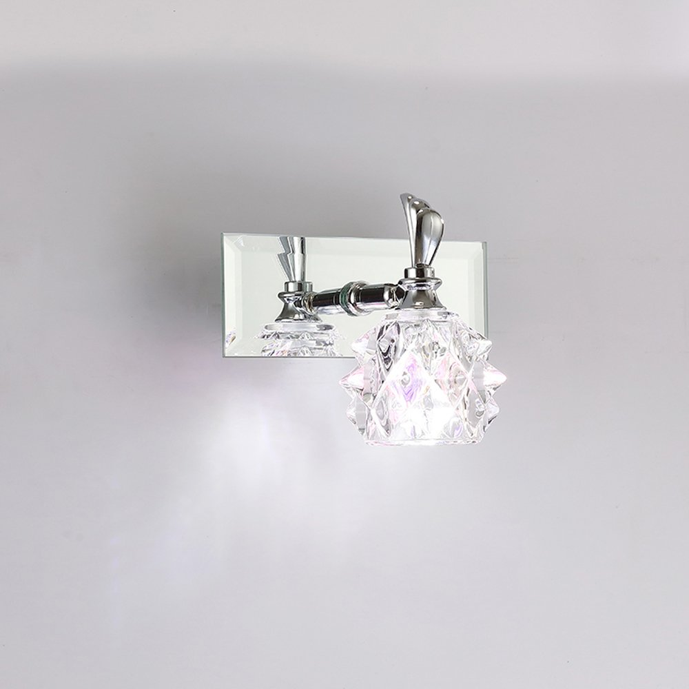 Modern Crystal Washroom Wall Light Chrome Contemporary Crystal Bathroom  Mirror Wall Sconces Cheap Wall Lamp Whole Sales In LED Indoor Wall Lamps  From Lights ...