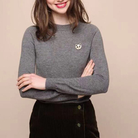 Chic 100% merino wool round neck Knitwear sweater