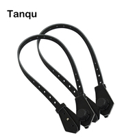 TANQU Bidirectional Adjustable Length Flat Leather Belt Handle With Clasp For Obag Basket Bucket City Chic