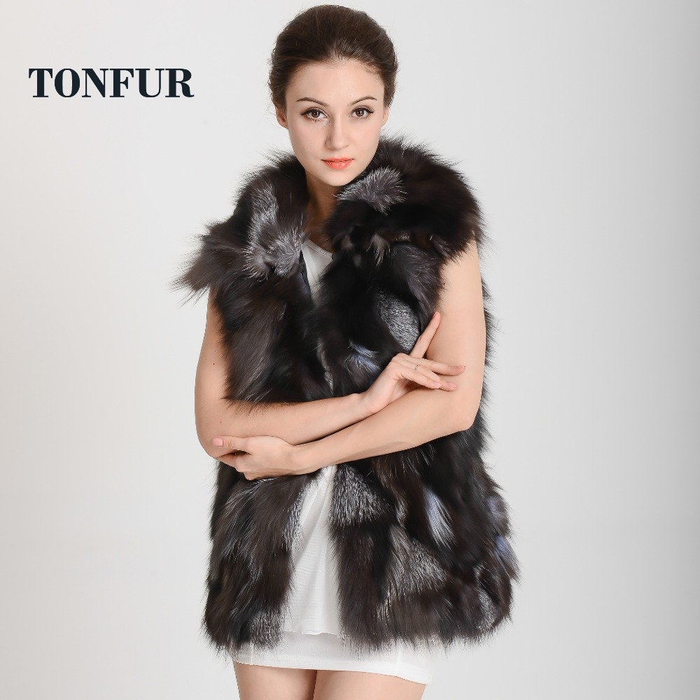 2019 Women New Arrival Real Fox Fur Vest Genuine Natural Fox leopard fur Jacket for Lady Luxury Collar Vest Free Shipping HP302