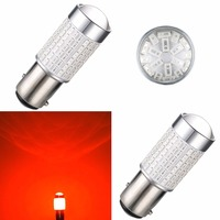 AGLINT 2PCS Red Car LED Brake Bulb 12V 24V P21W 520 Lumen 1157 Bay15d Automotive LED