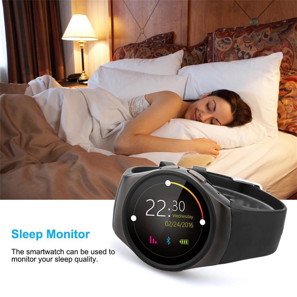 2016 New Product KW18 Smart Watch Android IOS Digital watch Bluetooth Reloj Inteligente SIM Round Heart Rate Monitor Watch Clock19