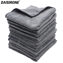 12PCS 35 35cm Microfiber Coral Velvet Plush Microfiber Car Cleaning Cloths Car Care Wax Polishing Detailing