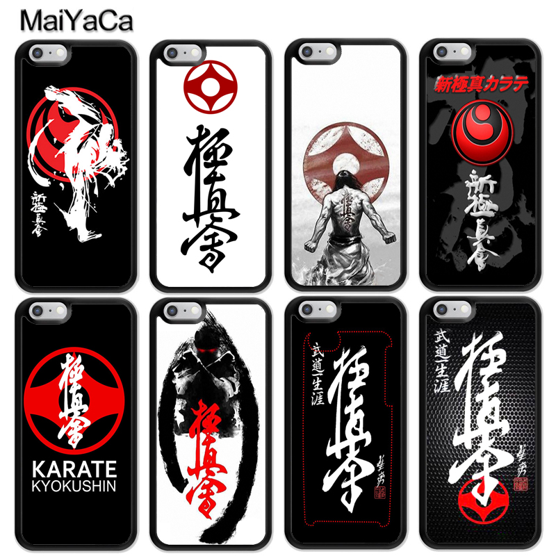 Oyama Kyokushin Karate Martial Printed Soft Rubber Skin Phone Case Fundas For iPhone 6 6S Plus 7 7Plus 5 5S 5C SE 4S Cover Shell
