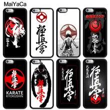 купить Oyama Kyokushin Karate Martial Printed Soft Rubber Skin Phone Case Fundas For iPhone 6 6S Plus 7 7Plus 5 5S 5C SE 4S Cover Shell по цене 217.79 рублей