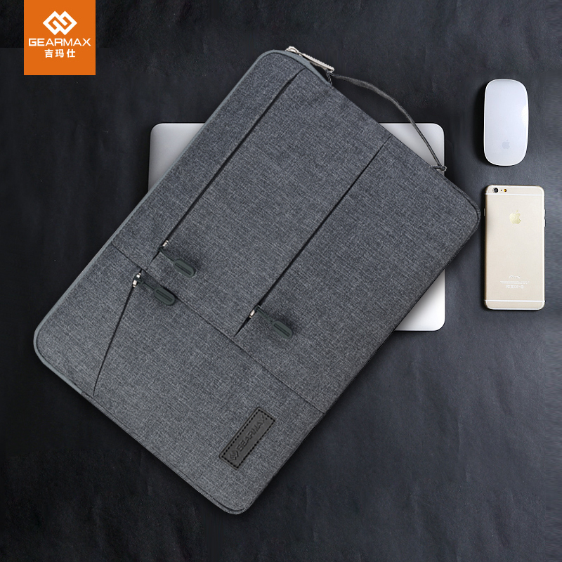 GEARMAX Laptop Bag 15.6 Notebook Sleeve Case 13.3 Waterproof Neoprene Laptop Bag 13 for Macbook Air Pro 13 11 12 14 15 Acer Dell gearmax high quality laptop backpacks 14 15 4 15 6 free gift keyboard cover for macbook fashion notebook bag traveling backpack