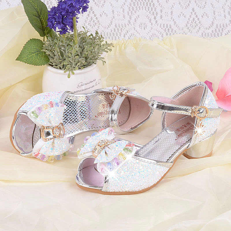 ... Blue Pink Silver Bling Bling Kids Party Shoes Wedding Elegant Dress  Shoes For 4-12Years ... 8400bb5a903c
