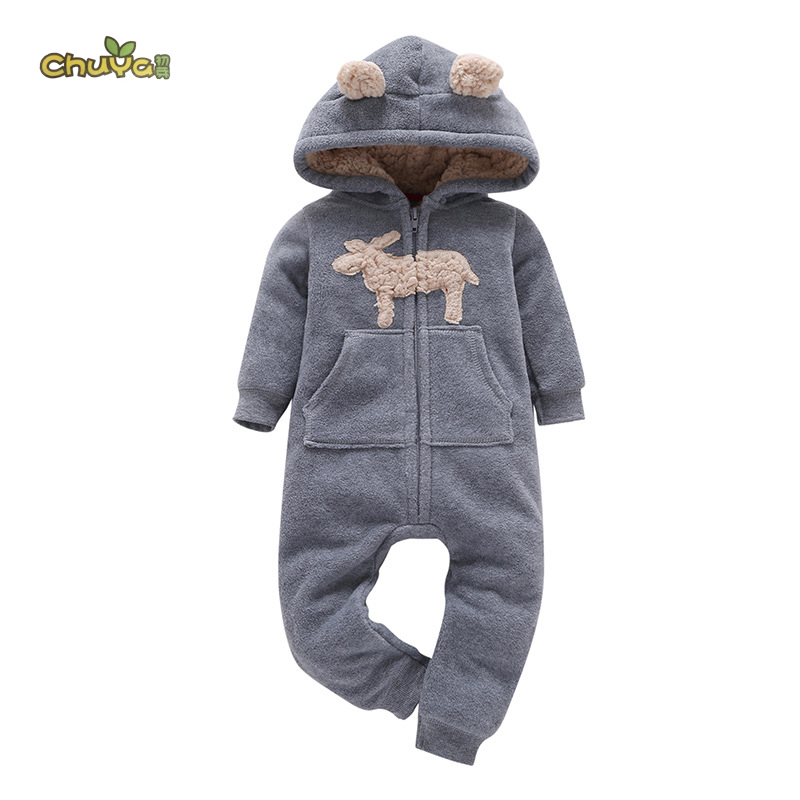 Chuya Baby Rompers Long Sleeve Baby Girls Clothing Jumpsuits Children Autumn Newborn Baby Clothes Cotton strip baby rompers long sleeve baby boy clothing jumpsuits children autumn clothing set newborn baby clothes cotton baby rompers