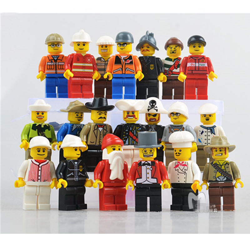 20pcs/lot Minifigures The Movie Characters Mini Figures Block Toys City Residents Block Toys for Children Compatible with Legoed