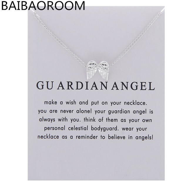 Fashion Jewelry New Angel Feather Wings Alloy Clavicle Pendant Short Chocker Nec