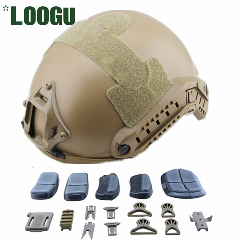 GB- MH Standard Fast Helmet Military Tactical Lightweight ABS Helmet Airsoft Base Jump Standard MH Helmet With Free Accessories vendetta lee hymn