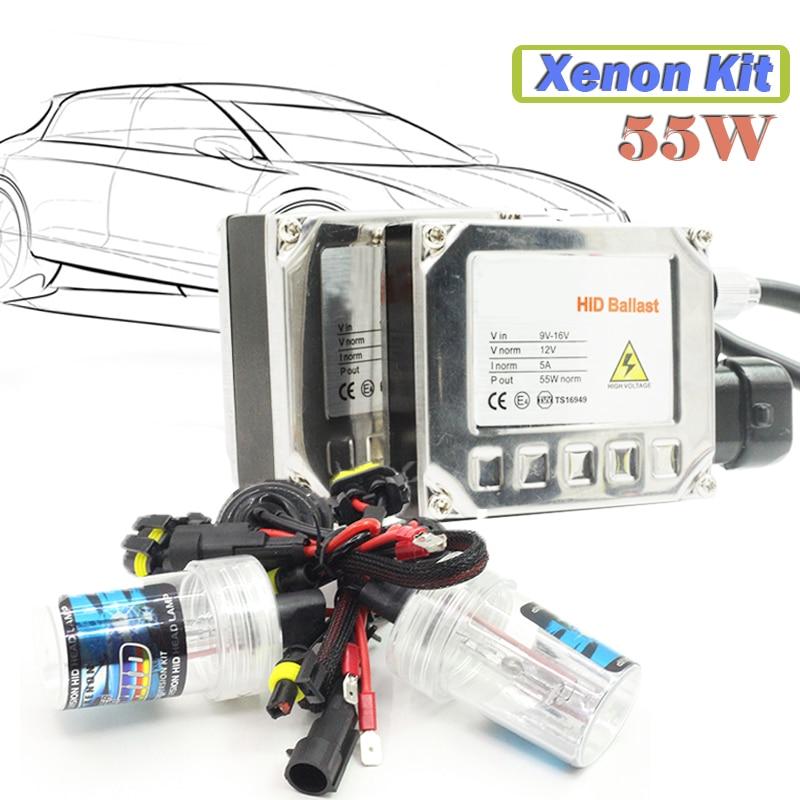 9005 HB3 55W Xenon Ballast  Bulb HID KIT 4300K 5000K 6000K 8000K 10000K 12000K 15000K Car Headlight Fog Light DRL