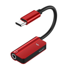 все цены на USB C Cable 2 in 1 Type-C 3.5mm Jack Audio Converter Headphone adapter Cable for Huawei mate 10 P20 pro Xiaomi Mi 6 8 онлайн