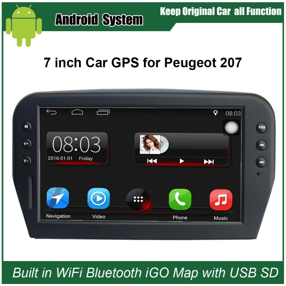 Upgraded Original Car Radio Player Suit to Peugeot 207 Car Video Player Built in WiFi GPS