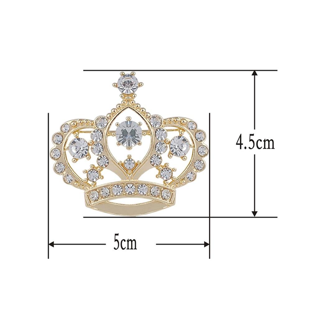 Weibliche Kronenbrosche Simulierte kristallweiße - Modeschmuck - Foto 3