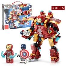 SY1340 Marvel Avengers Iron Man Smash Hulkbuster Building Blocks Set Toys for Children Gift Hulk Buster Mk46