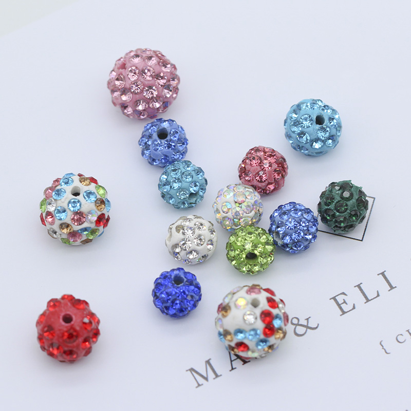 Pack 100% Guarantee Beads Popular Brand 6mm Rosaline Top Quality Czech Crystal Rhinestones Pave Clay Round Disco Ball Spacer Beads For Jewelry 100pcs
