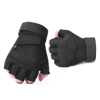Army Tactical Fingerless wojskowe pół palcowe rękawiczki Airsoft rowerowe strzelanie przeciwpoślizgowe ochrona dla mężczyzn rekawiczki taktne tanie i dobre opinie ZAIQING Dla dorosłych NYLON Wiskoza Stałe Nadgarstek Moda DB21 fingerless gloves gloves without fingers handschoenen