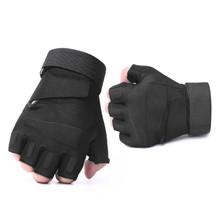 Army Tactical Fingerless wojskowe pół palcowe rękawiczki Airsoft rowerowe strzelanie przeciwpoślizgowe ochrona dla mężczyzn rekawiczki taktne tanie tanio Nylon Wiskoza Mężczyźni DB21 Moda SORRYNAM Nadgarstek Stałe Dla dorosłych fingerless gloves gloves without fingers