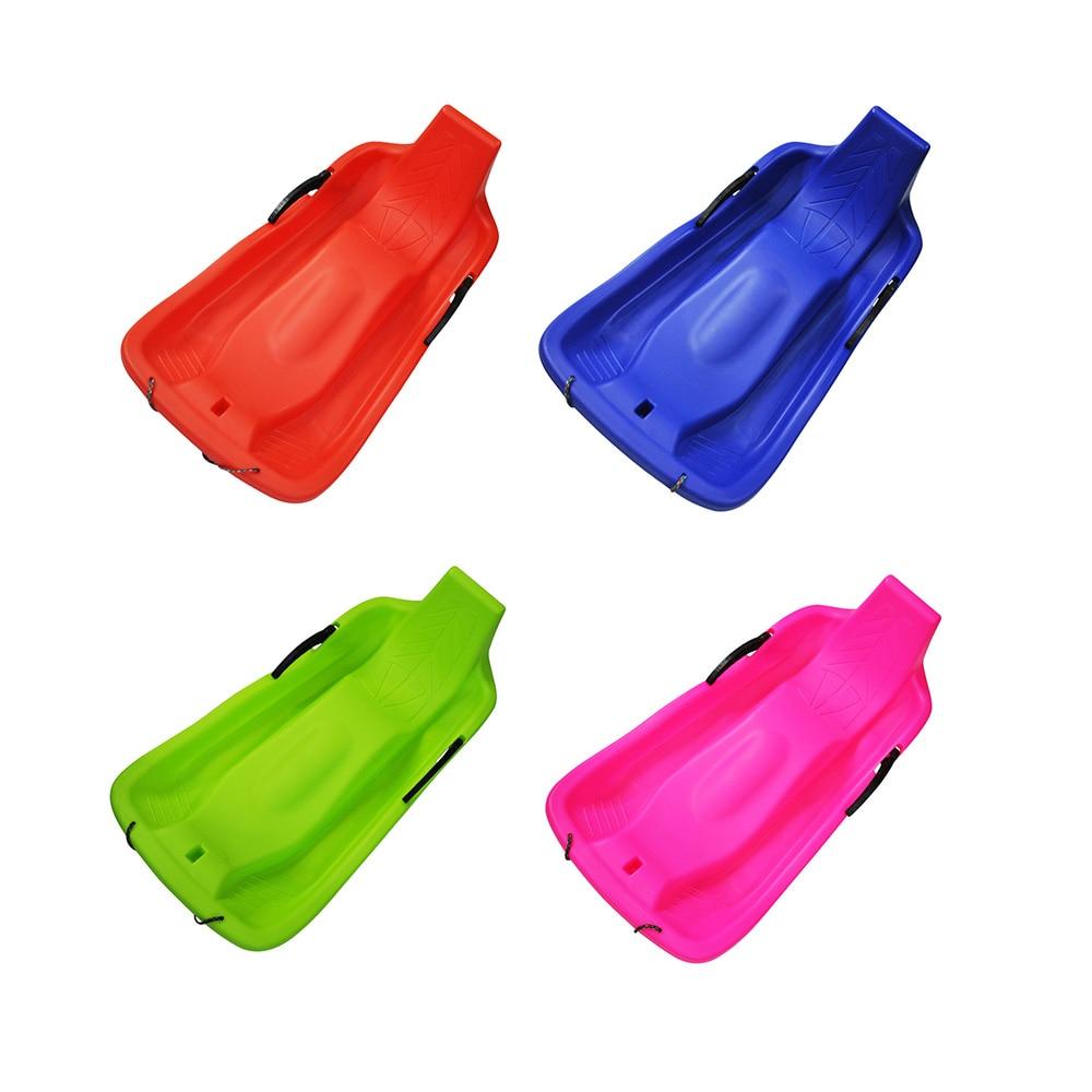 Sports de plein air planches de Ski en plastique Luge neige sable herbe planche Ski Pad Snowboard avec corde frein fonction 4 couleurs