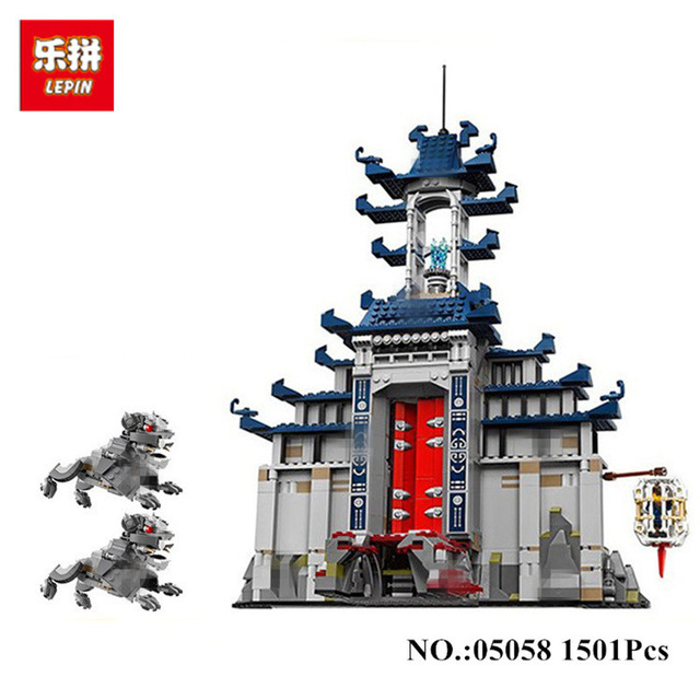 In Stock DHL lepin 06058 1501pcs Movie Temple of The Ultimate Weapon Building Blocks bricks DIY baby Toys children Gift 70617 dhl lepin 18032 2932 pcs the mountain cave my worlds model building kit blocks bricks children toys clone21137 in stock