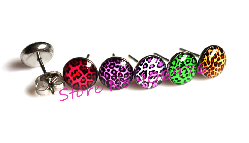 New Arrival Ear Stud Fancy design Leopard zebra stripe Earring Nail Stud Girl s Lovely Jewelry