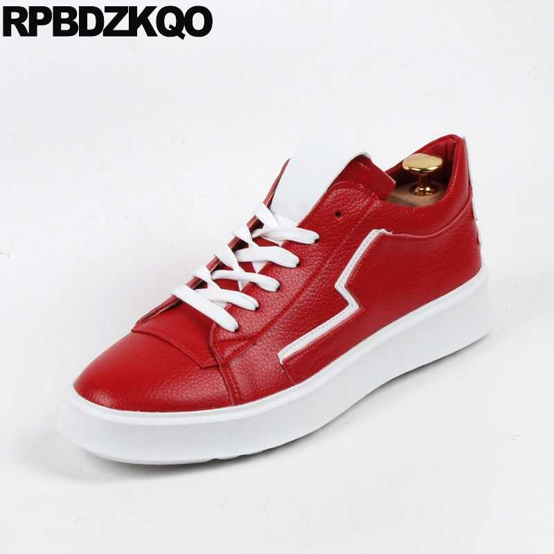 Stars Creepers Luxury New Men Elevator Hip Hop Trainers Platform Sneakers  Red High Quality British Casual 4d06b28718e8