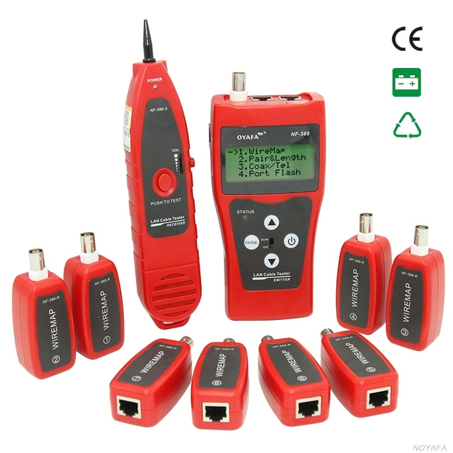 NF 388 Network coax Handheld cable tester Ethernet Wire tester ...