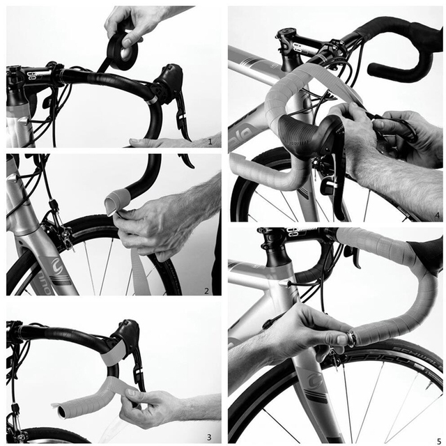 PCycling Bicycle Handlebar Tape Road Bike Handlebar Non-slip Sweat-absorbent Bike Belt Honeycomb Pattern Cycling Accessories 4