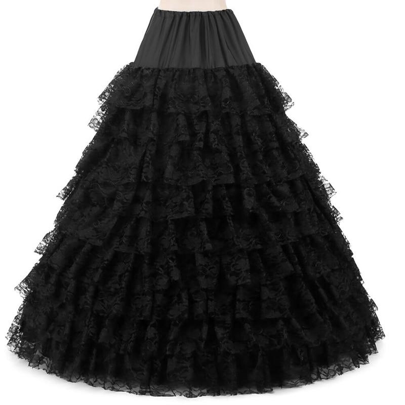 6 Hoops 9 Layers Lace Skirt Wedding Accessories Petticoat Vestido Longo Ball Gown Crinoline Underskirt For Wedding Prom Dress