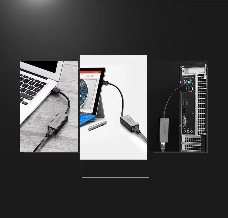 Ugreen USB Ethernet Adapter USB 3.0 2.0 Network Card to RJ45 Lan for ...