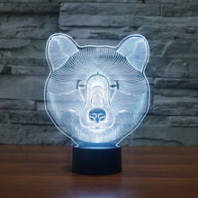 3D Illusion 7 colorful effect Change Touch Switch USB Table Light Awesome Toy Gift Decoration for Boys and Girls (Polar Bear)