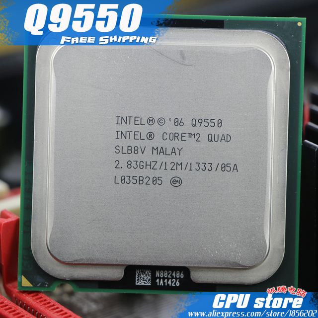 Intel Core 2 Quad Q9550 CPU Processor 283Ghz 12M 1333GHz Socket