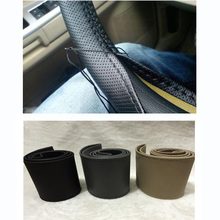 Diameter 38cm New Universal Braid On The Steering Wheel  Car Steering Wheel Cover For Renault Megane 2 3 for Mazda 3 6