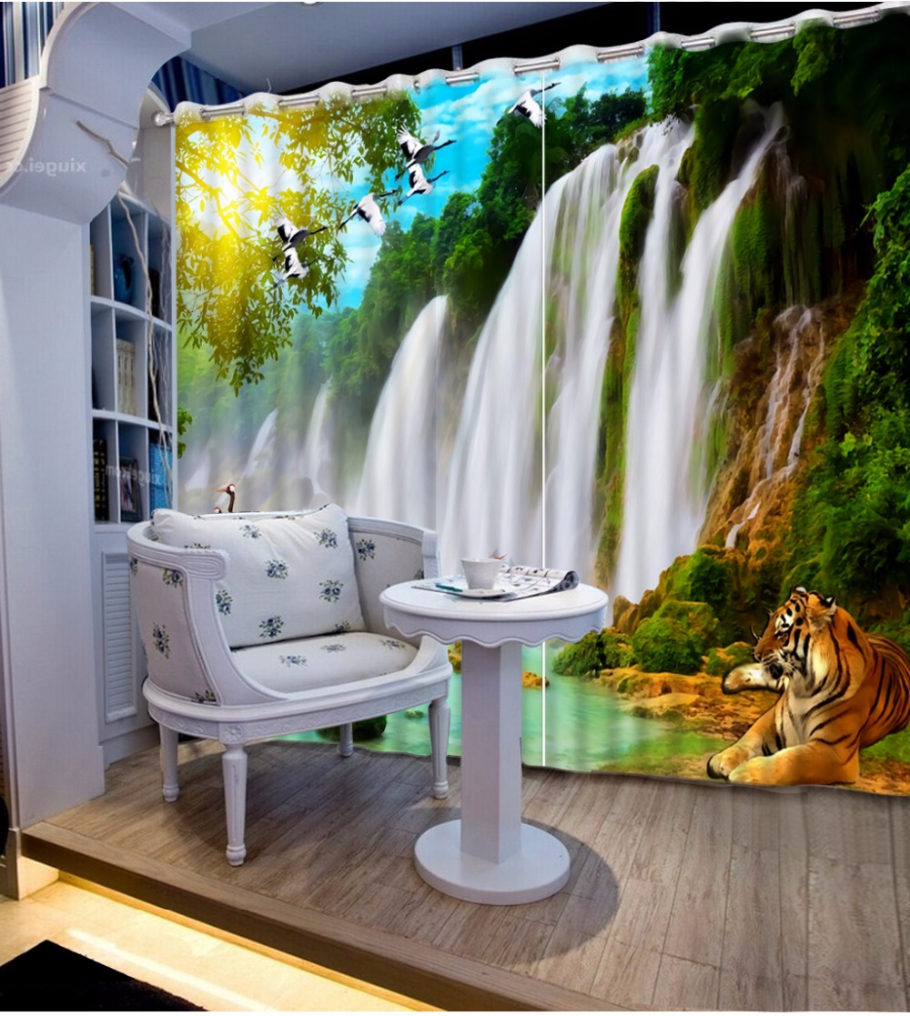 Modern Printing Curtains beautiful waterfall landscape Blackout Curtains For Living Room Bedroom Photo Drapes Modern Printing Curtains beautiful waterfall landscape Blackout Curtains For Living Room Bedroom Photo Drapes