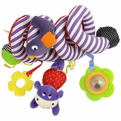 pudcoco Baby Rattles Stroller Bed Educational Plush Toys