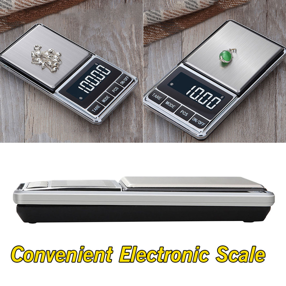 Electronic Jewelry <font><b>Scale</b></font> <font><b>Digital</b></font> Pocket <font><b>Weight</b></font> Mini Precision Balance LCD Gold Gram Weighing <font><b>Scale</b></font> 500g/100g *<font><b>0.01g</b></font> image
