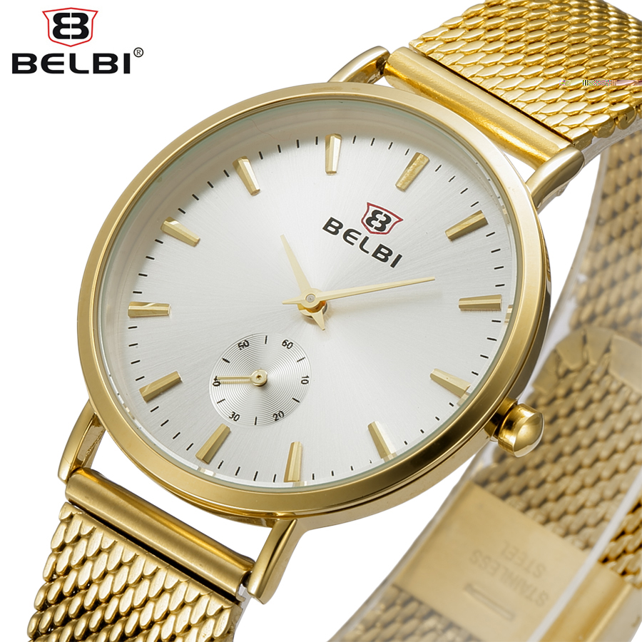 BELBI Simple Style Steel Mesh Women Watch Top Brand Luxury Quartz Ladies Watches Elegant Fashion Dress Analog Wristwatch Clock 2017 ethnic embroidered flower print backpacks women bags genuine leather backpack school bag sac a dos travel mochila feminina