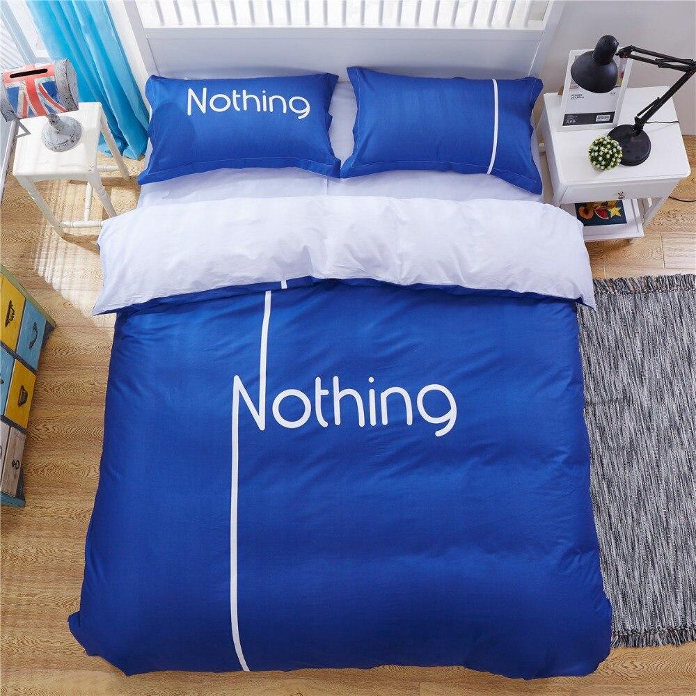 100  cotton super soft Personality Original unique design solid color blue  duvet cover set bed set with letter nothing. Online Get Cheap Unique Bed Sets  Aliexpress com   Alibaba Group