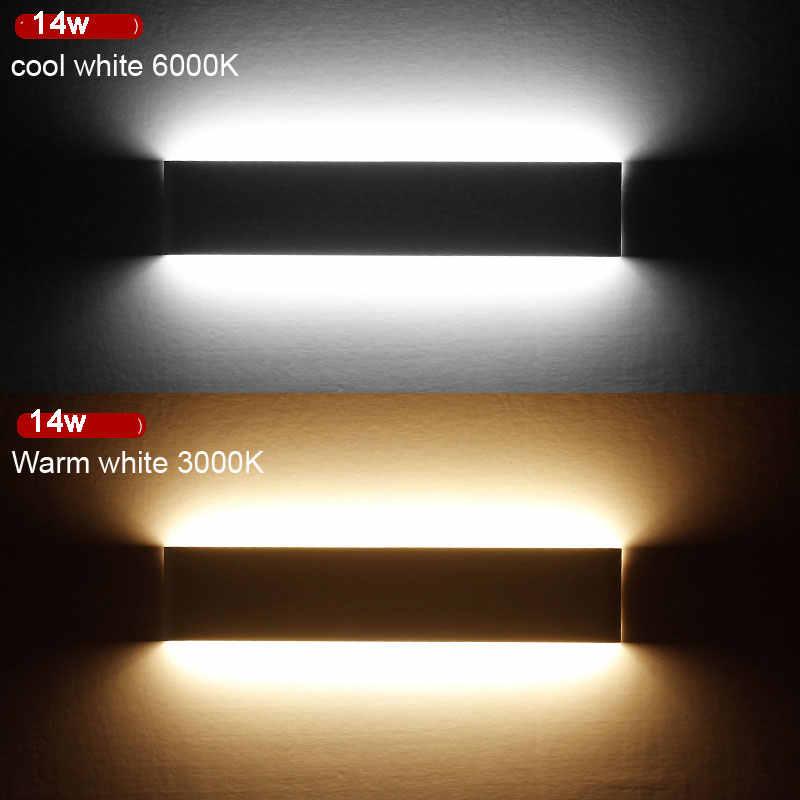 36 Вт 111 см Ванная комната зеркало передний свет современные светодиодные Настенные светильники бра свет для внутреннего как украшение Освещение черный, белый цвет готовой