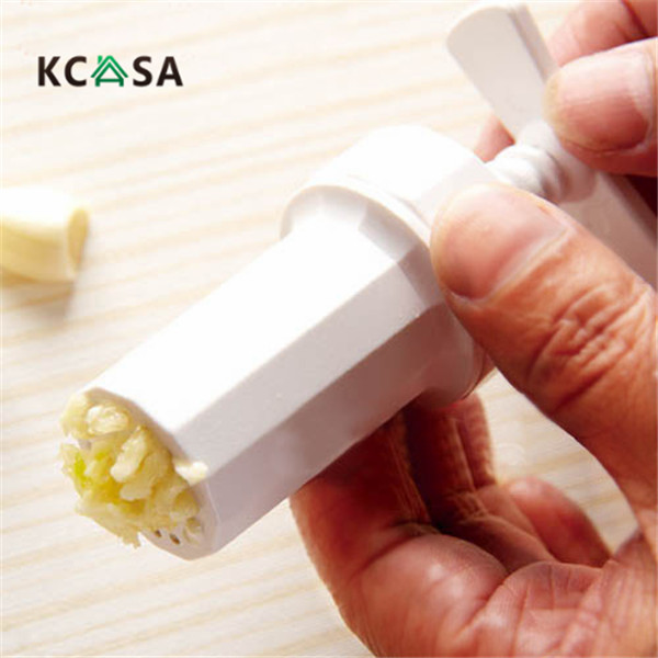KCASA Garlic press Crusher Presser screw squeeze Peeler garlic tool for kitchen tools gadgets meat cooking seasoning easy using
