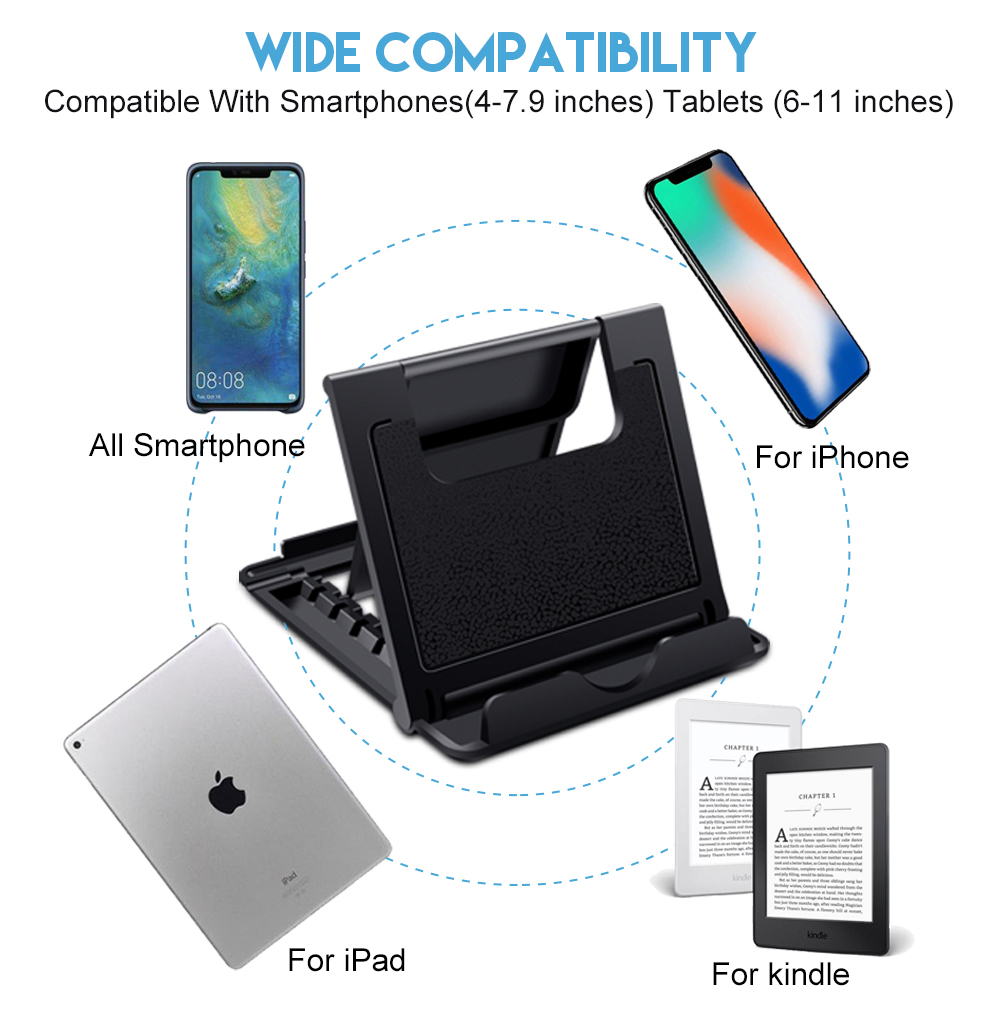 Ascromy Mobile Phone Stand Desk For iPhone X 8 Plus 7 6 Xiaomi OPPO Find X Samsung S8 Cell Holder iPad Pro 11 2018 Tablet Stand Accessories (3)