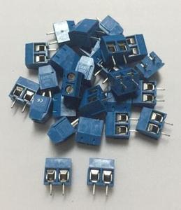 100 шт 2-контактный винт синий PCB клеммный блок разъем 5 мм Шаг