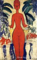Paintings for living room wall Standing Nude with Garden Background Amedeo Modigliani High quality Hand painted