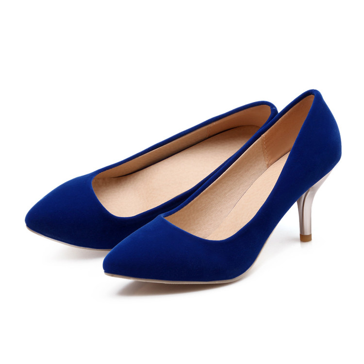 Fashion Platform Pumps Sexy High-heeled Shoes Heels Pointed Toe Platform Shoes Women's Wedding Prom Shoes Big Size 34-47 75-2